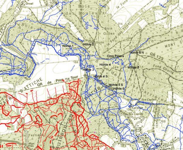 kaart Cinq Piliers