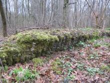 foundation of corrugated iron shelter