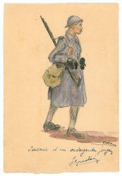 tekening soldaat
