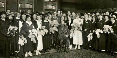 terugkeer ambulancepersoneel 1919