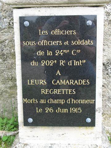 Tekst op het monument